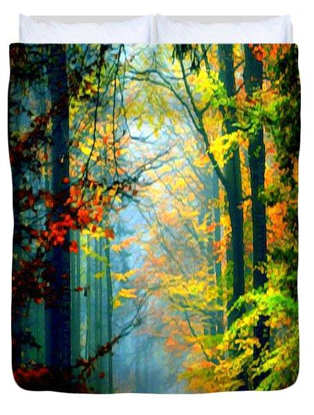 Autumn Trails In Georgia Duvet Cover