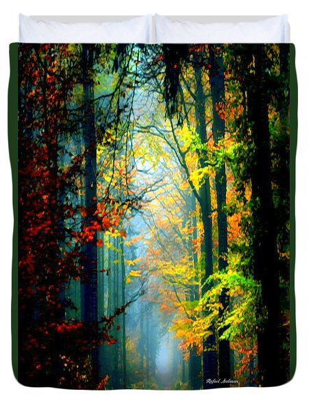 Autumn Trails In Georgia Duvet Cover
