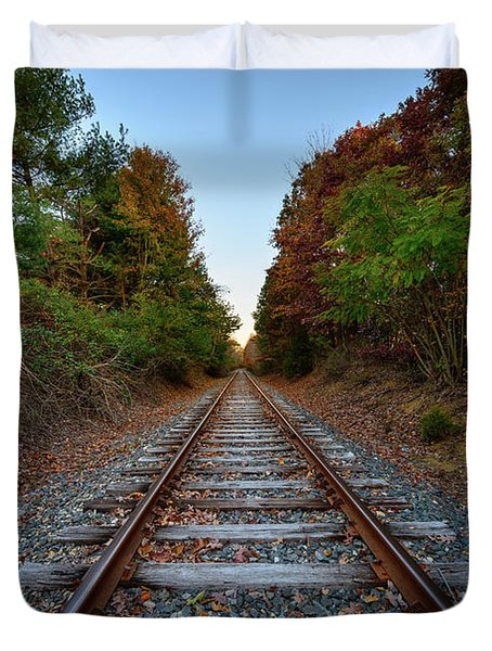 Autumn Train Duvet Cover