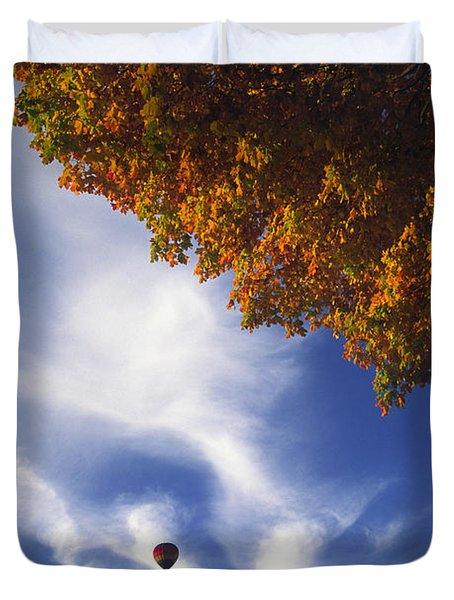 Autumn Traveler - Lake Geneva Wisconsin Duvet Cover