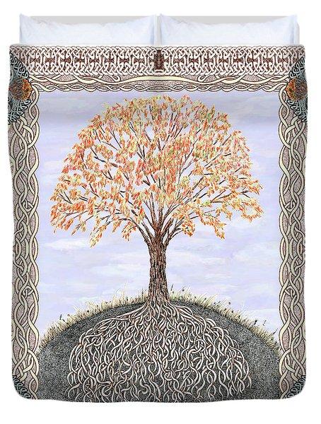Autumn Tree Of Life Duvet Cover