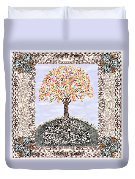 Autumn Tree Of Life Duvet Cover