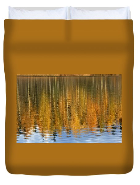 Autumn Tree Reflections Duvet Cover