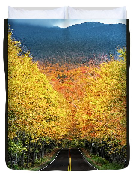 Autumn Tree Tunnel Duvet Cover