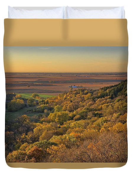 Autumn View At Waubonsie State Park Duvet Cover by Edward Peterson