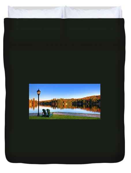Autumn View For Two Duvet Cover