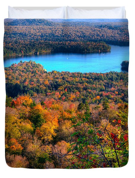 Autumn View From Bald Mountain Duvet Cover