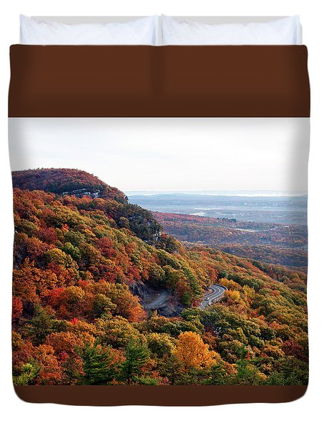 Duvet Cover featuring the photograph Autumn View From Millbrook Ridge #1 by Jeff Severson