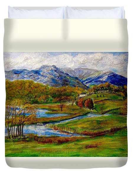 Autumn View Of The Trossachs Duvet Cover