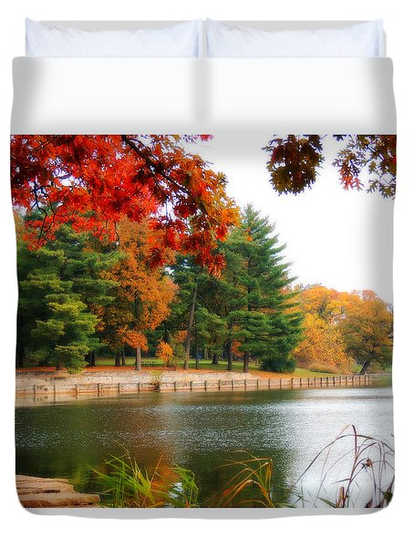 Autumn View Duvet Cover by Teresa Schomig