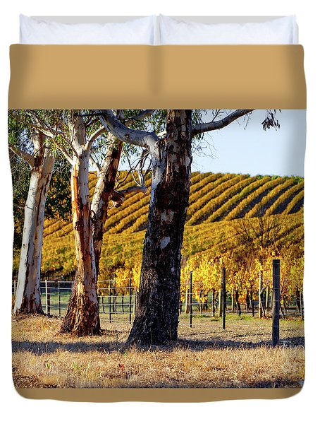 Duvet Cover featuring the photograph Autumn Vines by Bill Robinson