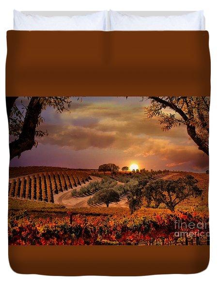 Autumn Vineyard Duvet Cover by Stephanie Laird