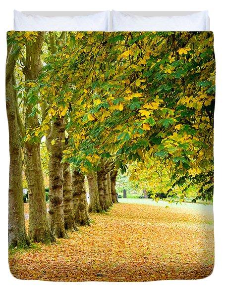 Autumn Walk Duvet Cover