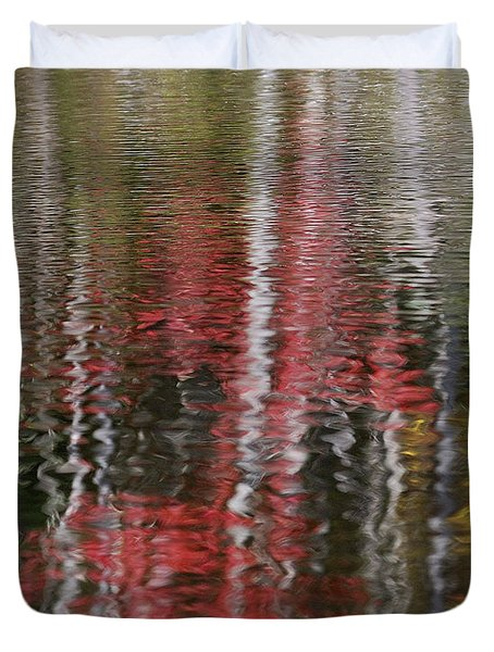 Duvet Cover featuring the photograph Autumn Water Color by Susan Capuano