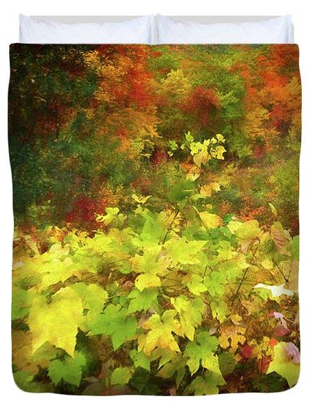 Autumn Watercolor Duvet Cover