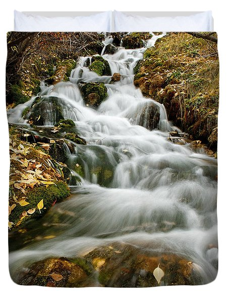 Autumn Waterfall Duvet Cover