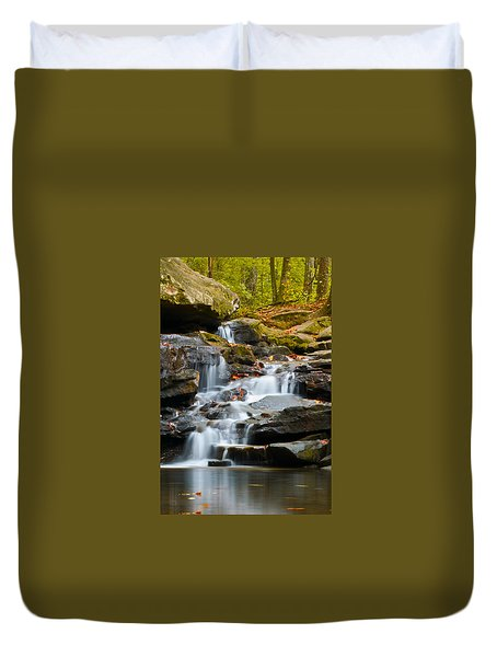 Autumn Waterfall Duvet Cover by Shelby  Young