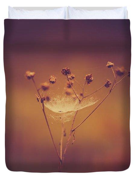Autumn Web Duvet Cover by Shane Holsclaw