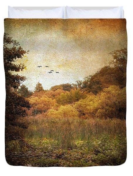 Autumn Wetlands Duvet Cover by Jessica Jenney