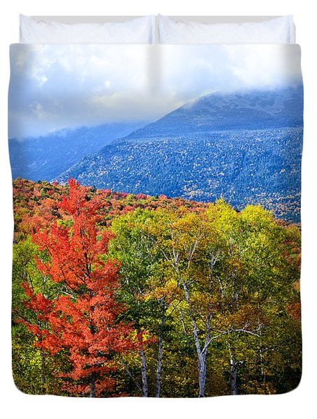 Autumn White Mountains Nh Duvet Cover