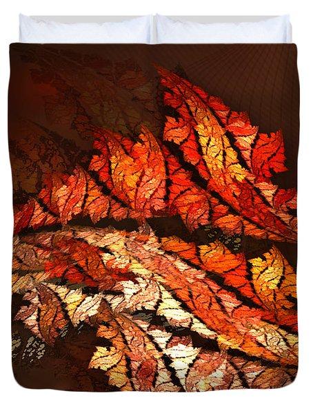 Autumn Wind Duvet Cover by Jutta Maria Pusl
