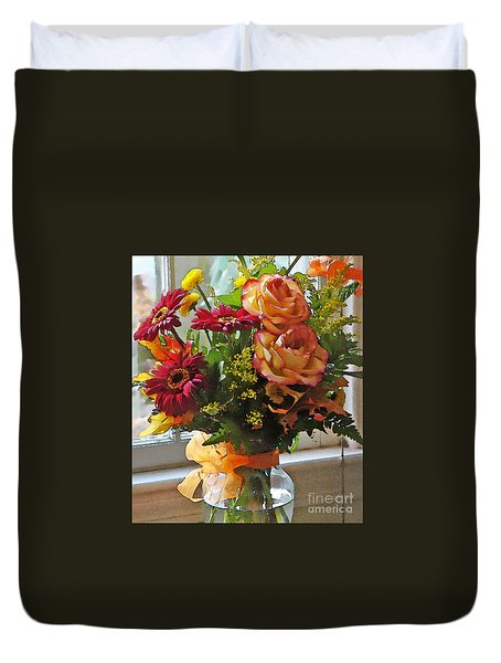 Autumn Window Duvet Cover by Betsy Zimmerli