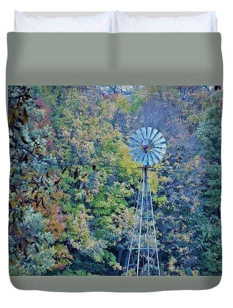 Autumn Windwill Duvet Cover