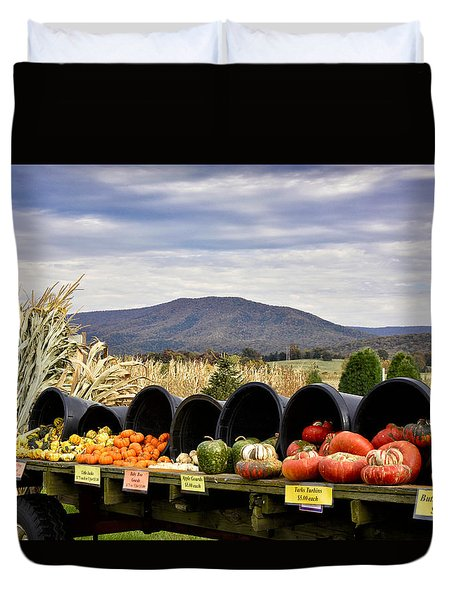 Autumnal Abundance In The Blue Ridge Mountains - Virginia Duvet Cover