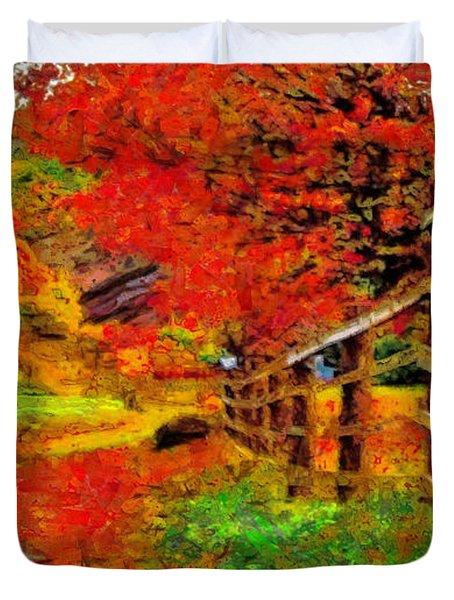 Autumnal Blaze Of Glory Duvet Cover