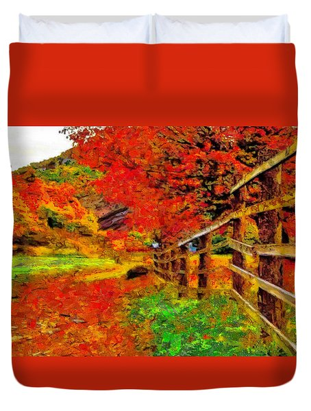 Autumnal Blaze Of Glory Duvet Cover