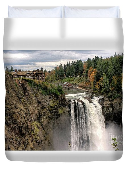 Autumnal Falls Duvet Cover by Chris Anderson