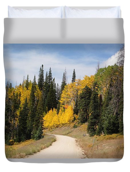 Duvet Cover featuring the photograph Autumnal Forest-dixie National Forest Utah by Deborah Moen