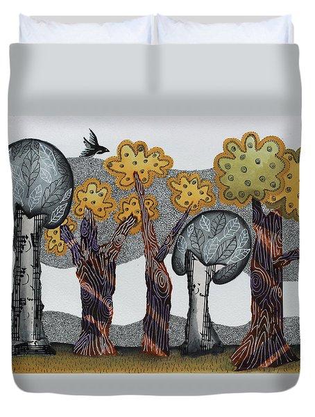 Autumnal Grove  Duvet Cover by Graciela Bello