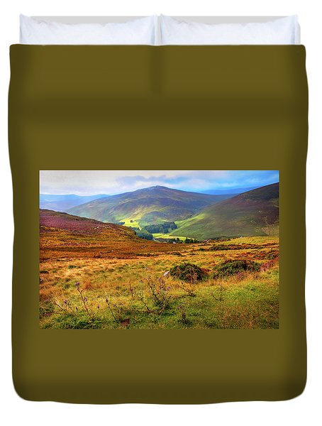 Duvet Cover featuring the photograph Autumnal Hills. Wicklow. Ireland by Jenny Rainbow