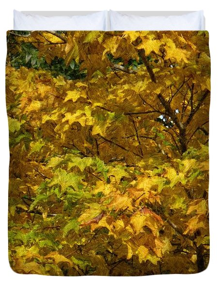 Autumnal Leaves And Trees 2 Duvet Cover