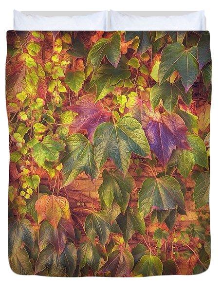 Autumnal Leaves Duvet Cover