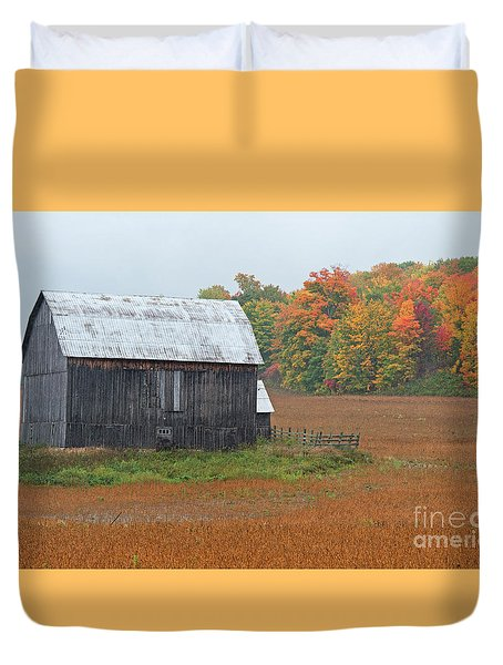 Duvet Cover featuring the photograph Autumnal.. by Nina Stavlund