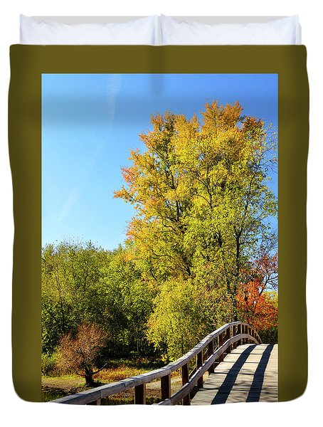 Autumnal North Bridge Duvet Cover