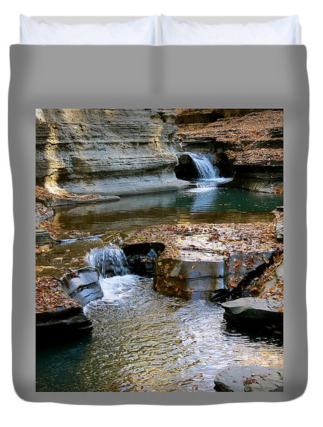 Autumnal Pool Duvet Cover