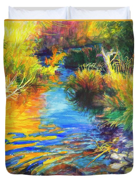 Autumnal Reflections Duvet Cover
