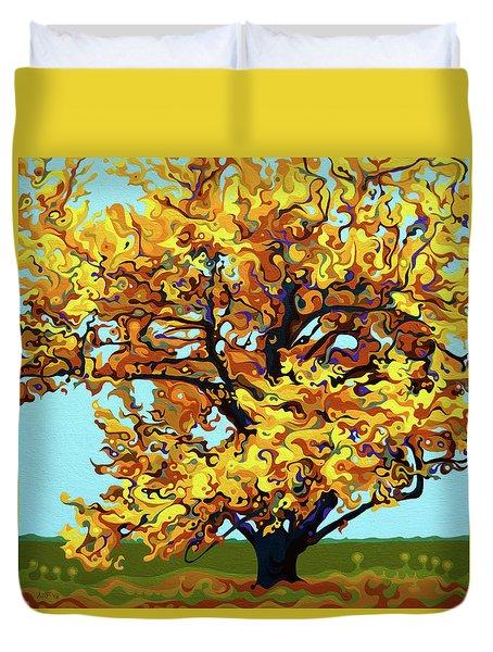 Autumnal Yellow Treet Duvet Cover