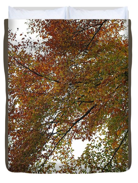 Duvet Cover featuring the photograph Autumn's Abstract by Deborah  Crew-Johnson