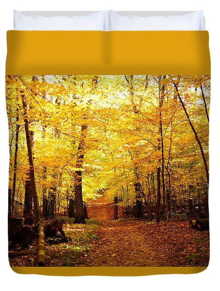 Autumns Blaze Duvet Cover by Steven Clipperton