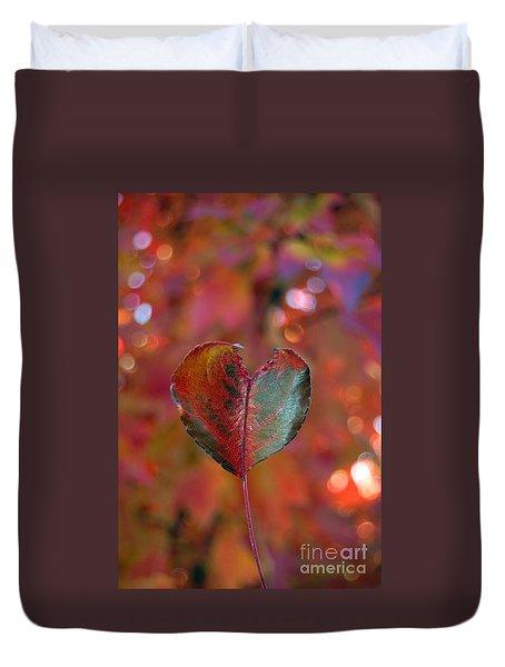Autumn's Bold Heart Duvet Cover