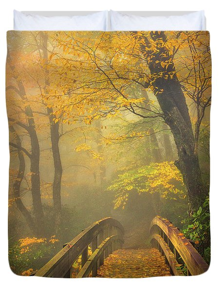 Autumn's Bridge To Heaven Duvet Cover