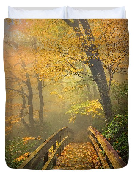 Autumn's Bridge To Heaven Duvet Cover