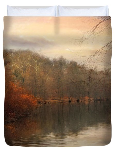 Autumn's Ebb Duvet Cover by Jessica Jenney