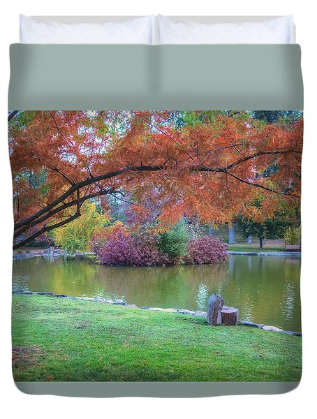 Autumn's Embrace Duvet Cover