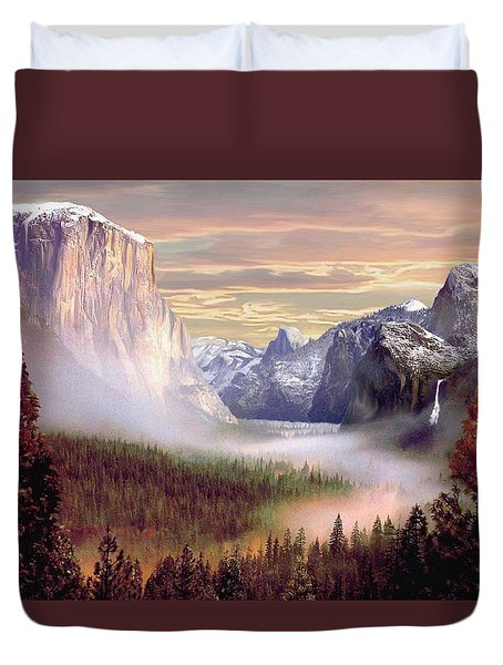 Autumns First Snowfall Duvet Cover