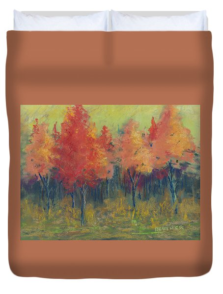 Autumn's Glow Duvet Cover by Lee Beuther